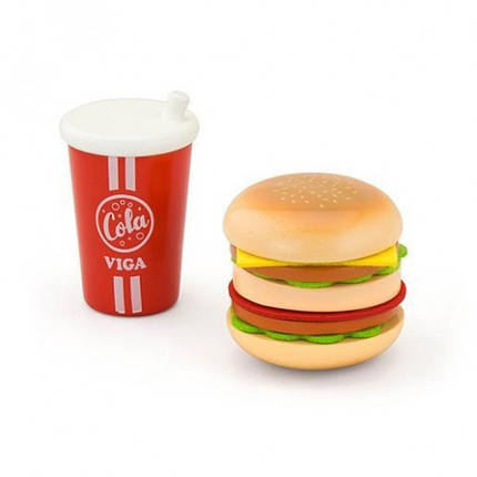 Гамбургер и кола игровой набор Viga Toys (51602), фото 2