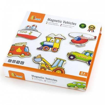 Транспорт, набор магнитных фигурок Viga Toys 20 шт. (58924), фото 2