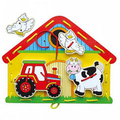 Шнуровка Viga Toys Ферма (59027)
