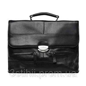 Мужской портфель VIP Collection 1229 кожаный Чёрный