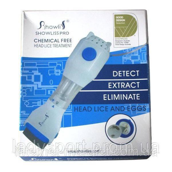 Расческа электрическая от вшей  Showlis Pro - лечение педикулеза.