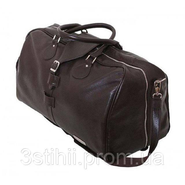 Дорожная сумка VIP Collection 45 л Коричневая (36490B flat)