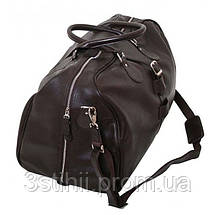 Дорожная сумка VIP Collection 45 л Коричневая (36490B flat), фото 3