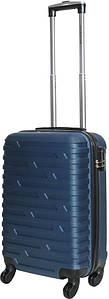 Чемодан дорожный VIP Collection пластиковый Costa Brava 20 Navy Синий