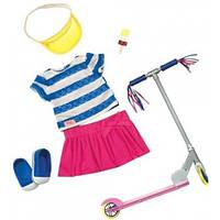 Набор одежды для кукол Deluxe с самокатом и аксессуарами, Our Generation BD30200Z