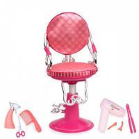 Набор аксессуаров для кукол Розовое кресло для салона красоты (8 предметов), Our Generation BD37336Z