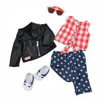 Набор одежды для кукол Deluxe Стильный кожаный жакет, Our Generation BD60031Z