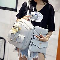 Женский рюкзак, комплект, набор,клатч, визитница, сумочка