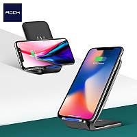 Зарядное устройство Rock W3 Fast Wireless Charging Stand Black 10 W 2 A для iPhone8/8Plus/X Samsung S9/8/7/S6