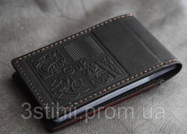 "Кожаная визитница на 36 карточек ""А"" Мануфактура Гук (804-12-11), фото 2"