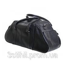 Сумка дорожная спортивная Vip Collection 19 л Чёрная (1606A flat), фото 2