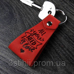 Брелок BlankNote All you need is love Коралл (BN-BK2-1-coral)