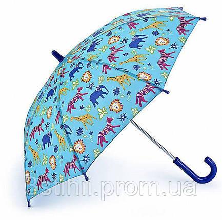 Детский зонт Fulton Junior-4 Джунгли (C724) Голубой, фото 2