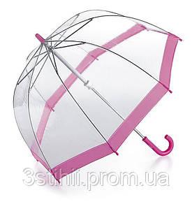 Детский зонт-трость Fulton Funbrella-2 C603 Прозрачный с розовым