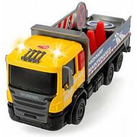 Грузовик для дорожных работ со светом и звуком, Dickie Toys, с дорожными знаками 374 2008-3