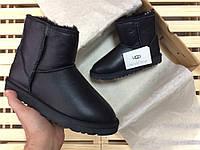 Женские зимние угги UGG AUSTRALIA - classic mini metallic black, фото 1