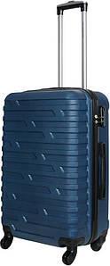 Чемодан дорожный VIP Collection пластиковый Costa Brava 24 Navy Синий