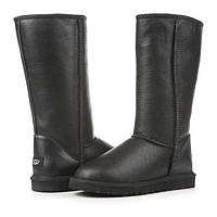 Женские зимние угги UGG AUSTRALIA - classic tall metallic black, фото 1