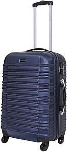 Чемодан дорожный VIP Collection пластиковый Nevada 24 Blue Синий