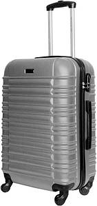 Чемодан дорожный VIP Collection пластиковый Nevada 24 Silver Серый