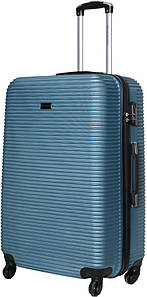 Чемодан дорожный VIP Collection пластиковый Sierra Madre 28 Blue Голубой