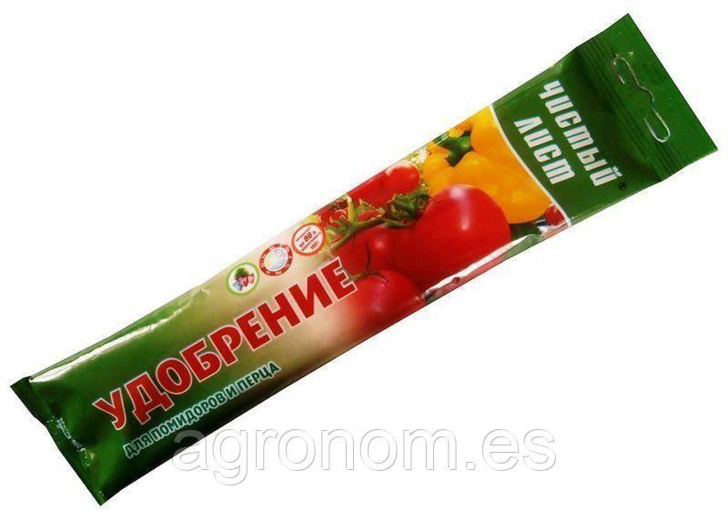 """Удобрение """"Чистый лист"""" для помидоров и перца, 0,1 кг."""