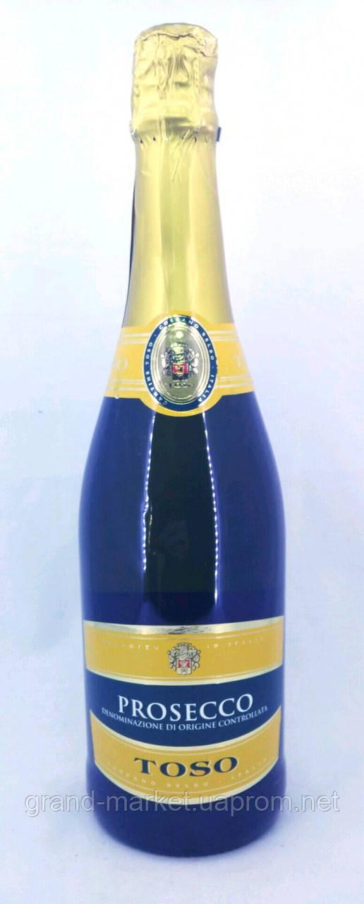 "Игристое вино "" Tosso Prosecco DOC "" 0.7 l"