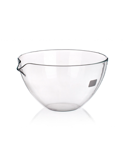 Чаша испарительная плоскодонная с носиком 60 мм, стекло, фото 2