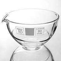 Чаша випарна плоскодонна з носиком 60 мм, скло, фото 2