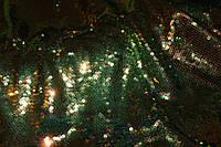 Паетка изумруд золото, лак, голограмма, фото 1