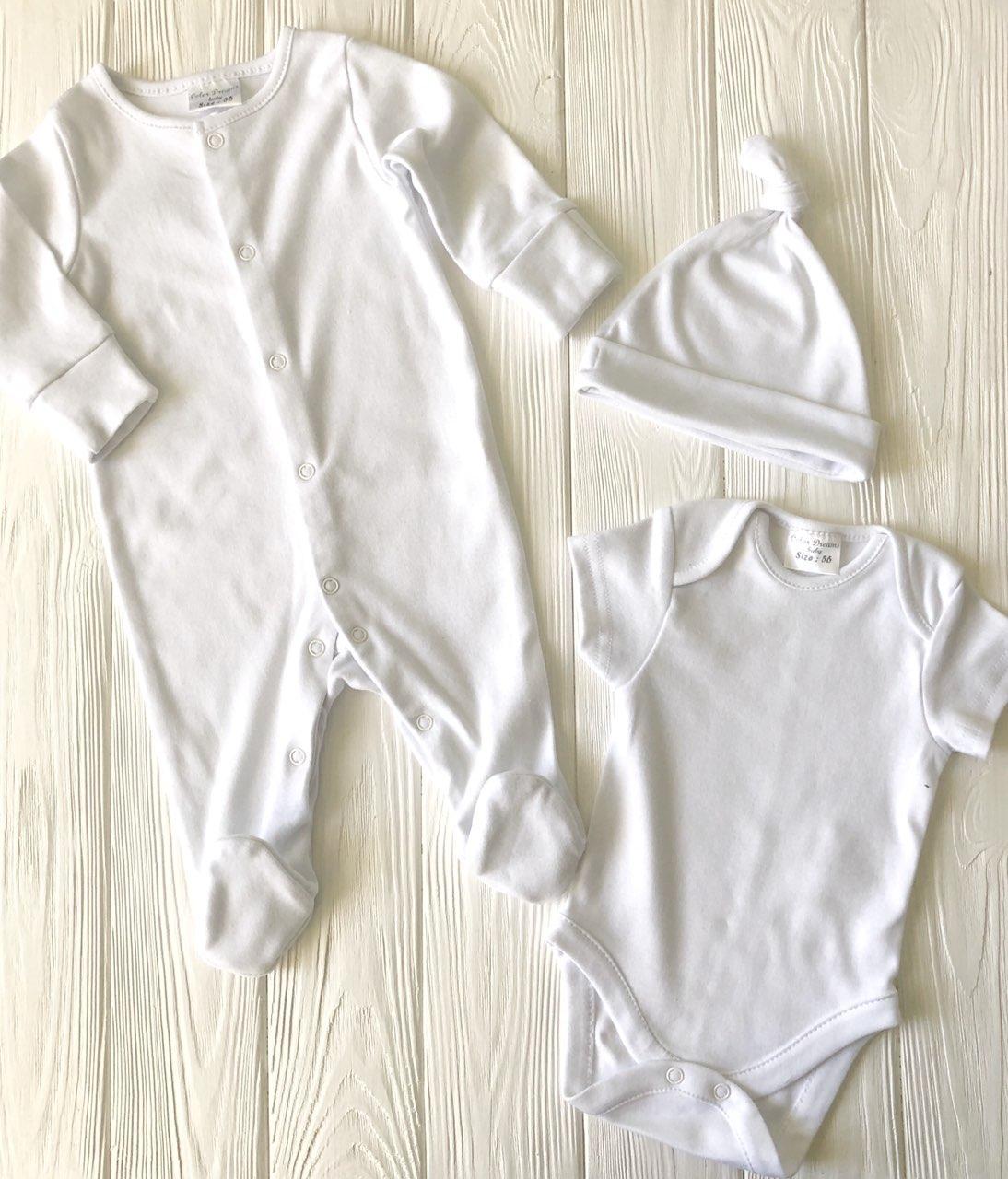 Детский комплект для младенца на выписку  Белый