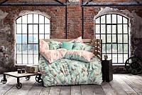 Комплект постельного белья  Issimo Home сатин размер евро с резинкой IDOLE