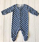 """Человечек,слип  для новорожденного  """"Горох на синем """", фото 3"""