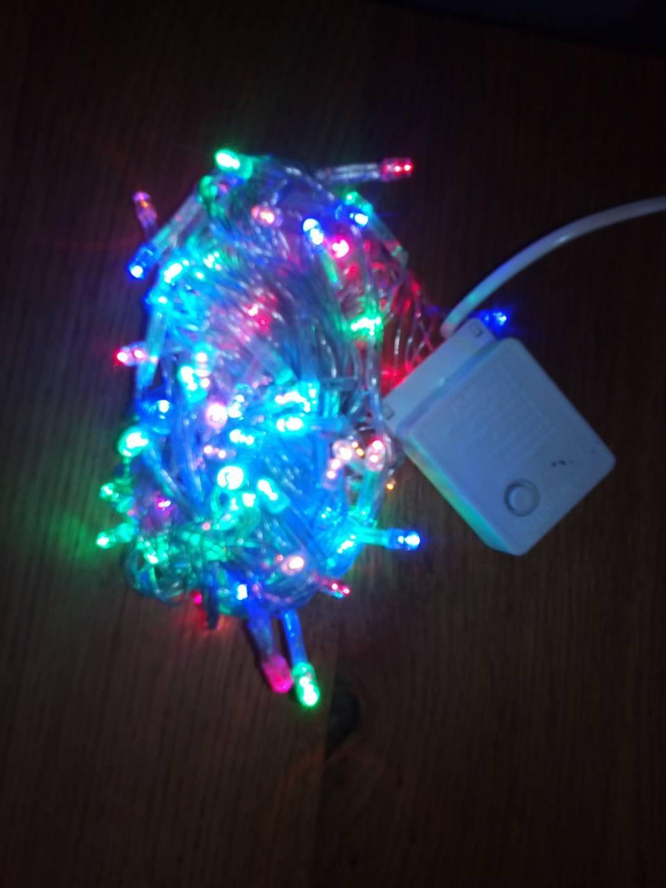 Новогодняя светодиодная гирлянда 200LED 13м мультиколор