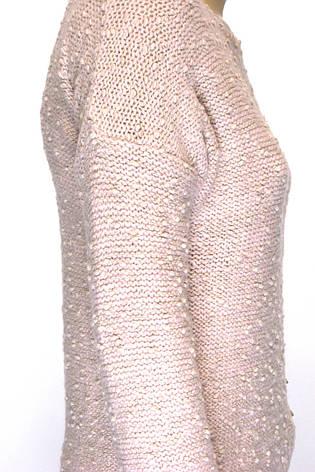 Жіночий вязаний джемпер букле, фото 2