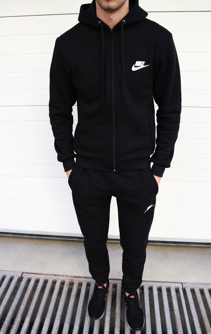 8d4afb28 Мужской спортивный костюм Nike на флисе черный топ реплика -  Интернет-магазин обуви и одежды