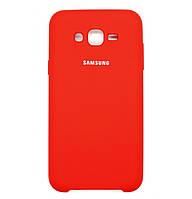 Чехол накладка Original Silicone case на Samsung Galaxy J7 SM-J700H Red