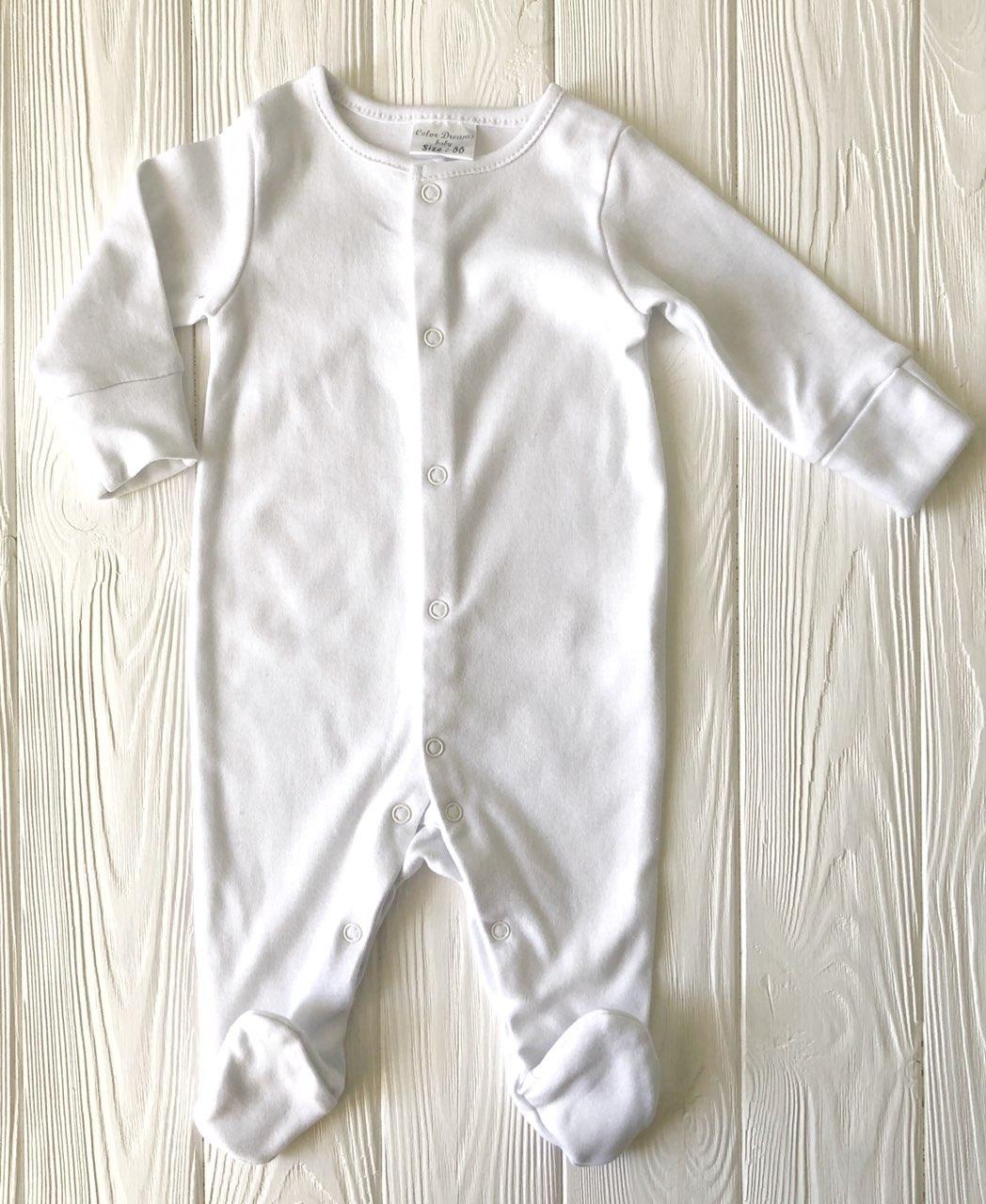 Натуральный Человечек для новорожденного  Белый