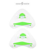 Кистевые лопатки Mad Wave Finger Paddles PRO (White)