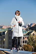 Теплый женский пуховик MSD-S571 MISUN - белого цвета