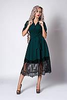 Платье  мод 713-7 ,размер 40,48,50,52 бутылочное, фото 1