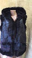 Безрукавка жіноча хутряна з натуральної шкіри