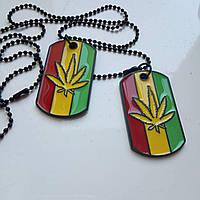 Кулон  жетон Bob Marley Боб Марли