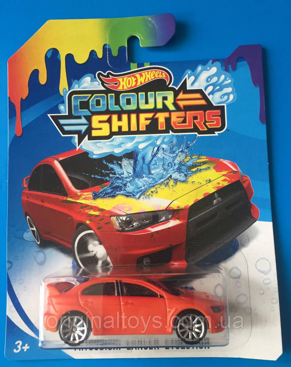 Машинка Hot Wheels, Зміни колір Mattel модель Mitsubishi Lancer Evolution