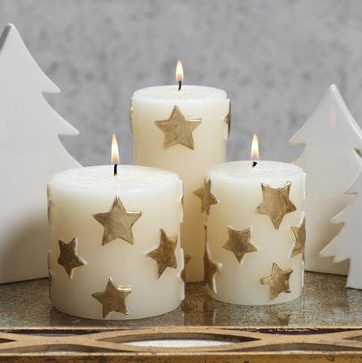 Новорічний набір , парафінові свічки ароматизовані