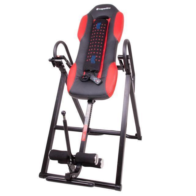 Инверсионный стол inSPORTline Inverso Heaty (тренажер для позвоночника спины механический)