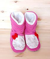 Домашние тапочки-сапожки для девочки Китти , фото 1