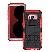 Противоударный двухслойный чехол Shield для Samsung Galaxy S8 Plus SM-G955F Red