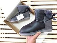 Женские зимние угги UGG AUSTRALIA - mini bailey bow II metallic gray da9ba6899ef2c