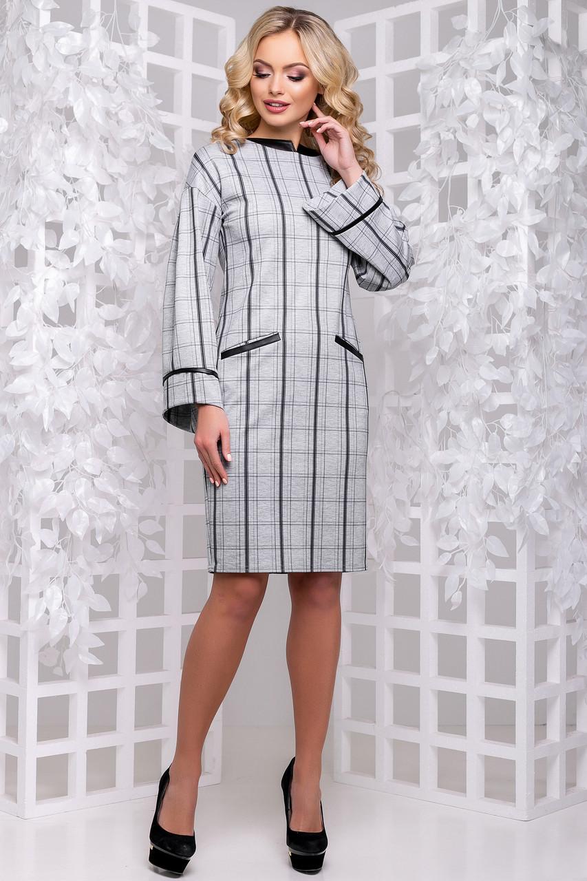 05ede4a2acd Оригинальное Платье Офисного Стиля Серое в Клетку S-XL - купить по ...